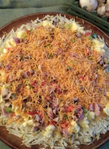 Omelet Hashbrown Pizz