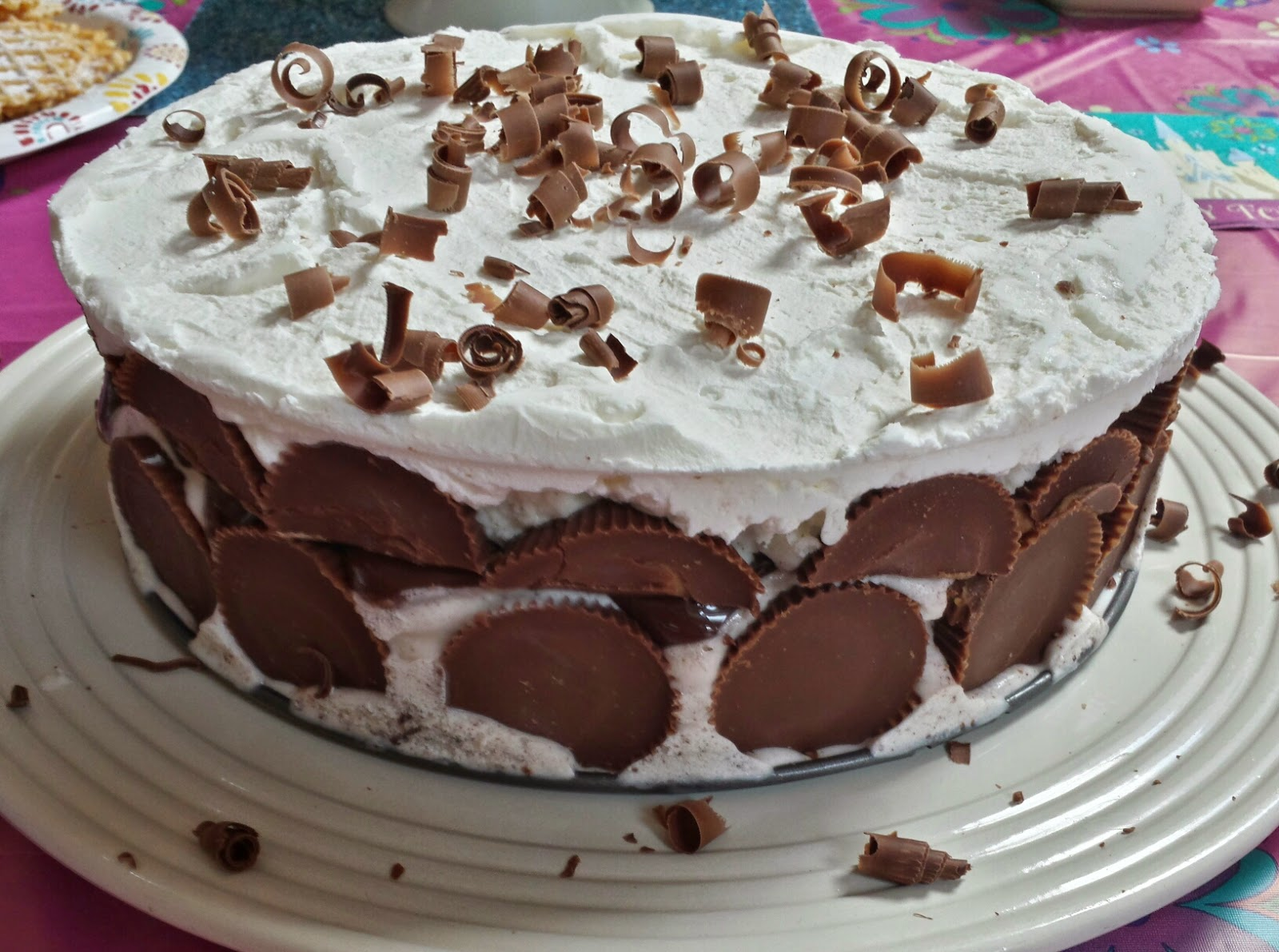Reeses Peanut Butter Cup Ice Cream Cake Three Kids And A