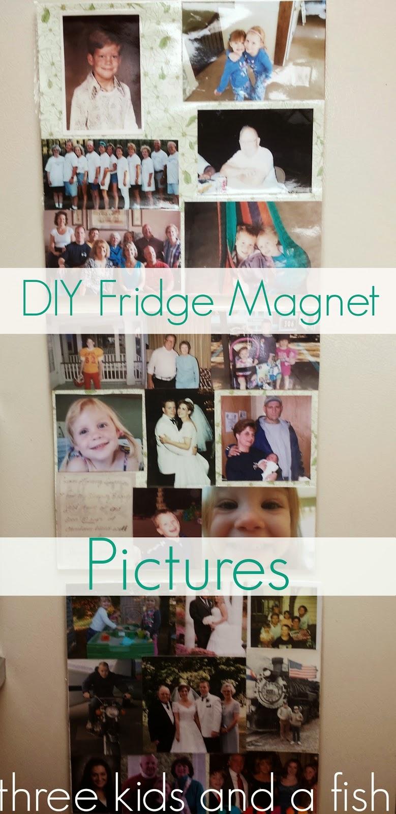 DIY fridge magnet pictures