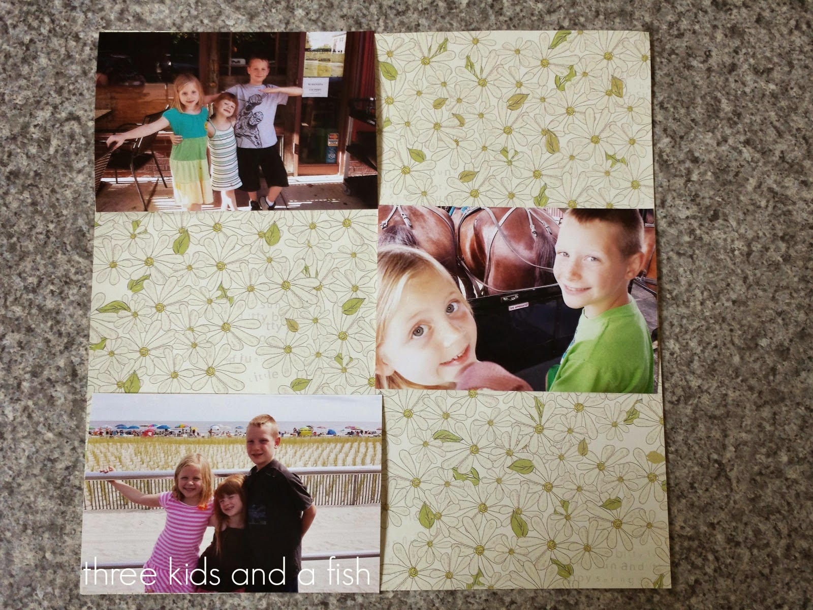 arrange pictures for the DIY fridge magnet pictures