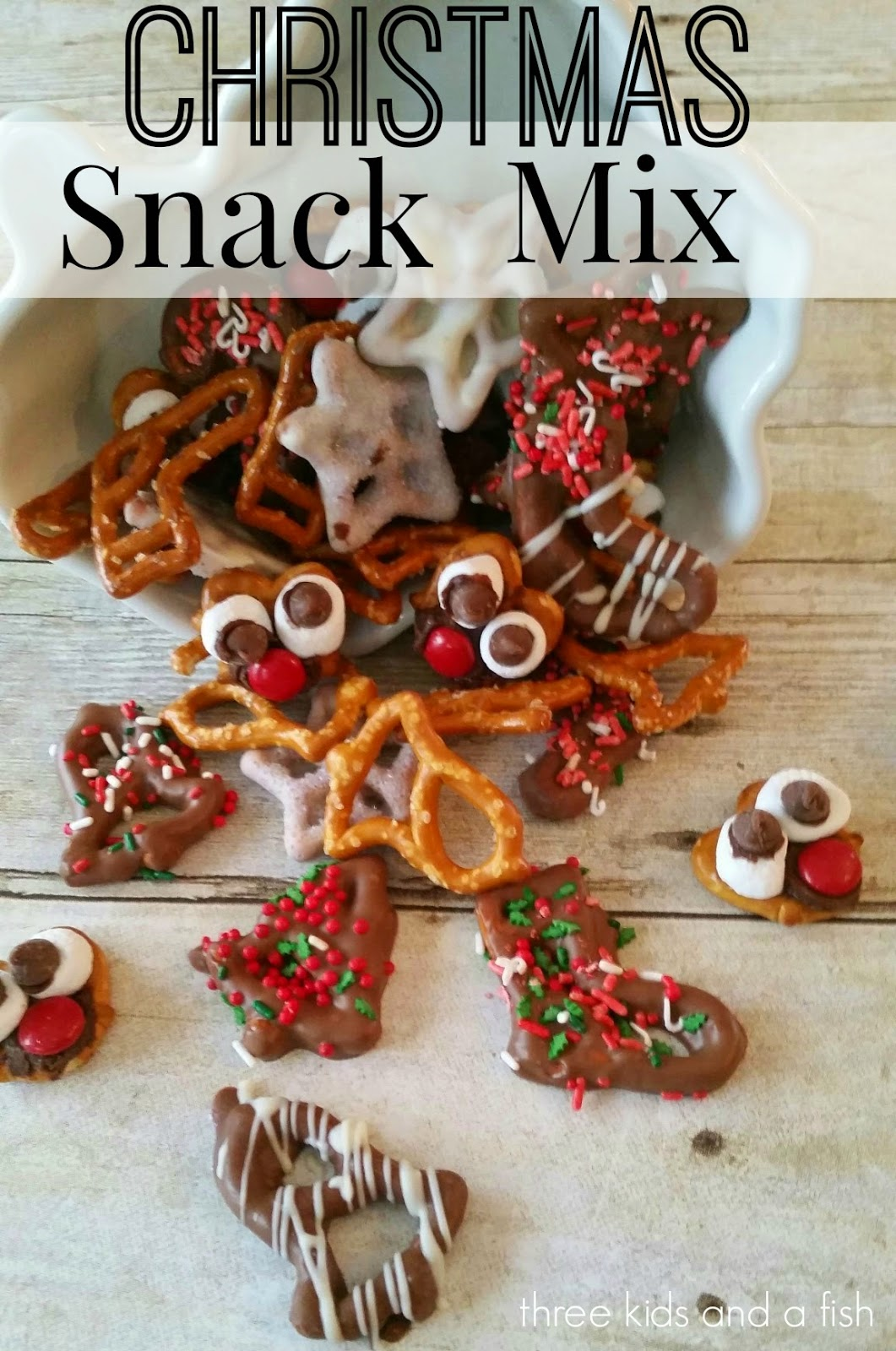 Christmas Snack Mix - Three Kids and a Fish