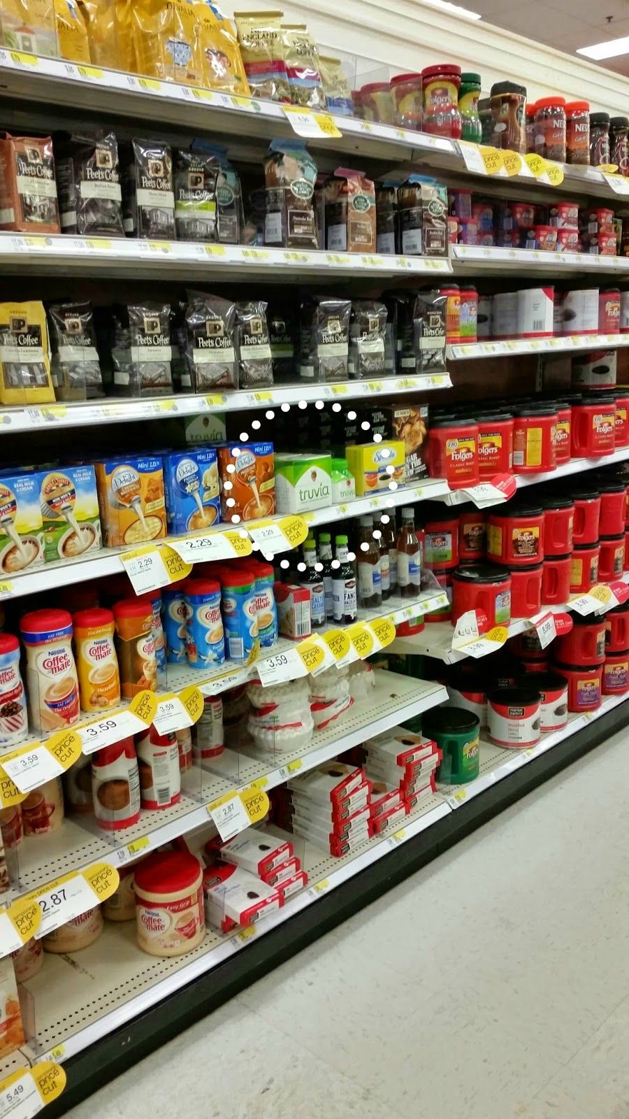 shopping at target for truvia