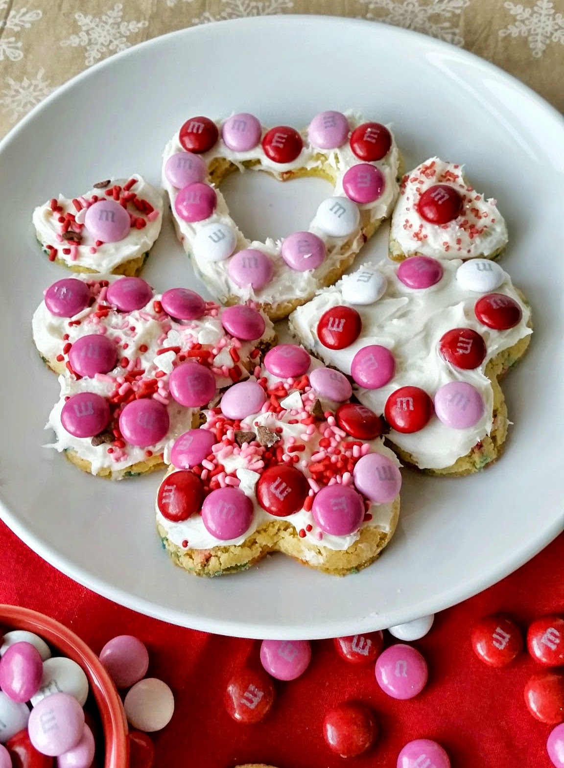 heart cake mix cookies