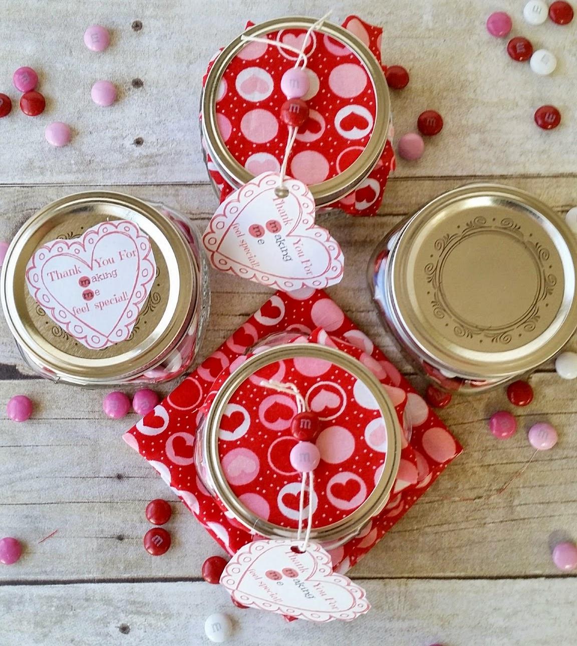 valentine's mason jar gift