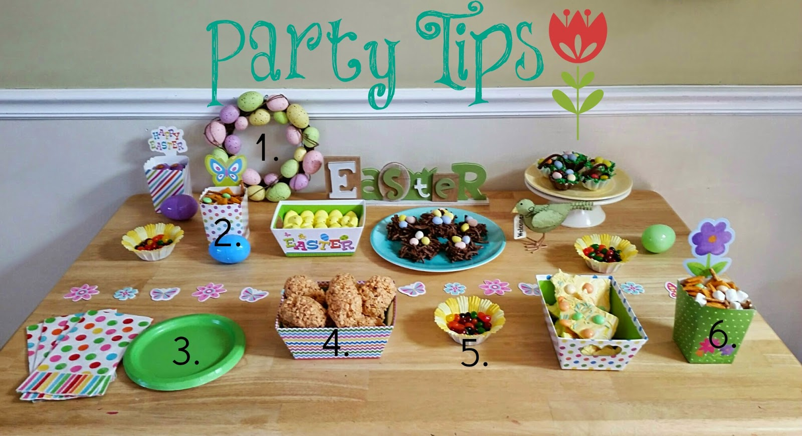 party tips for the Spring into Easter party