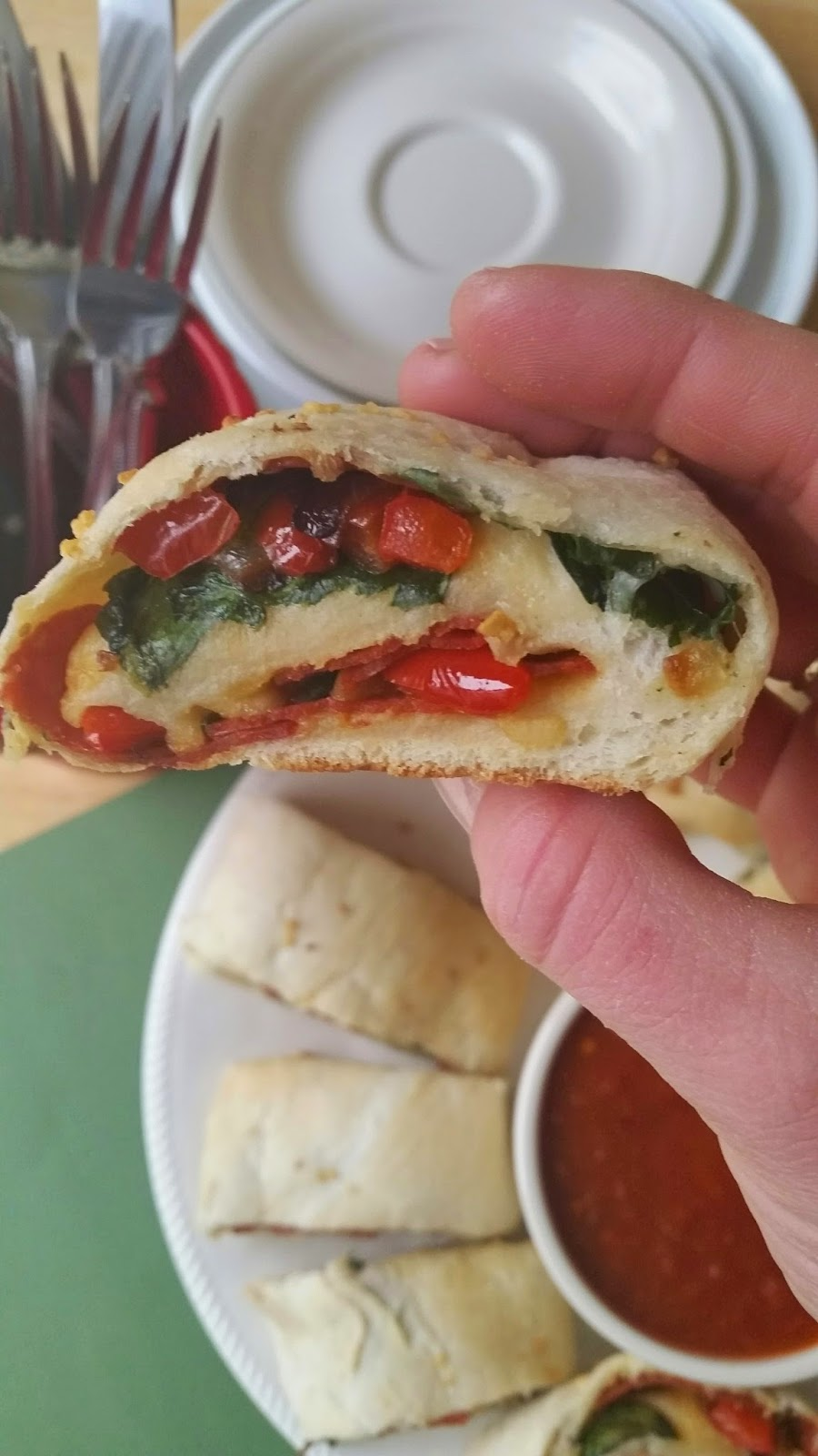 pepperoni spinach bread