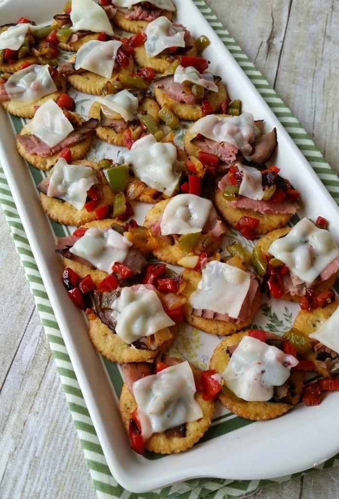 Cheesesteak Cracker Appetizer