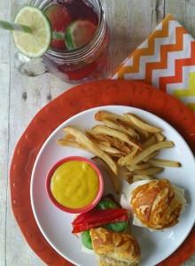 Pretzel Roll Sandwiches With Mustard Dip