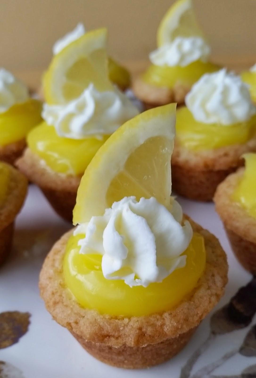 lemon sugar cookie cups