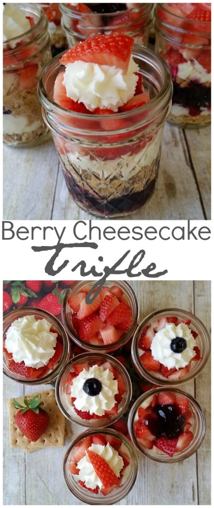 berry cheesecake trifles