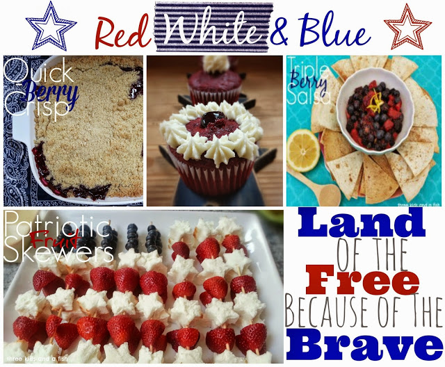 red and white blue sweet treats