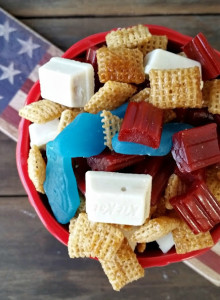 Red, White & Blue Chex Mix