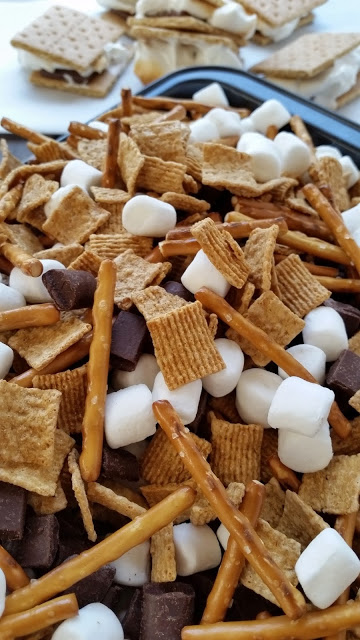 smores mix in a pan