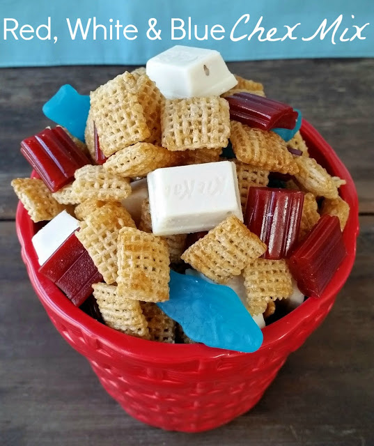 red white blue chex mix