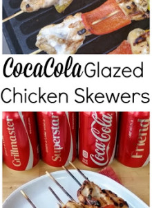 Coca Cola Glazed Chicken Skewers