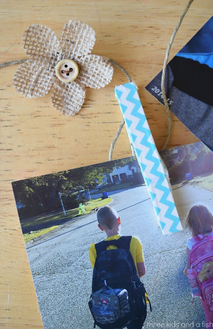DIY Washi Tape Clothespin Picture Line