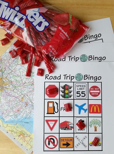 road trip bingo with twizzlers twists