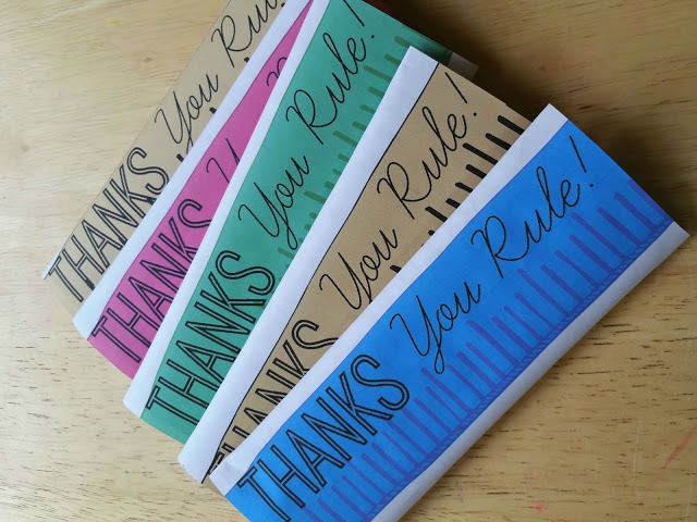 Thanks You Rule Candy Bar Printable