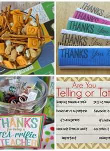 Back To School Snack Mix & Printables