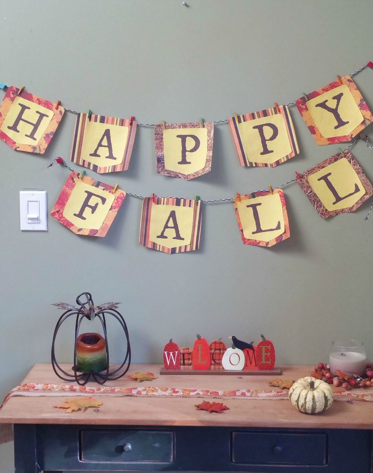 diy happy fall banner