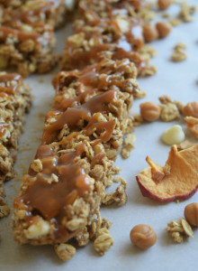 salted caramel apple granola bars