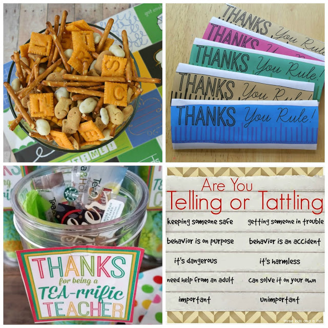 back to school snack mix and printables