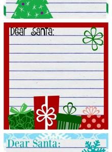 Letter To Santa Printables