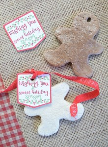 Salt Dough Ornaments with Printable