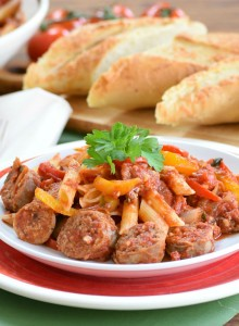 Sausage & Peppers with Pasta