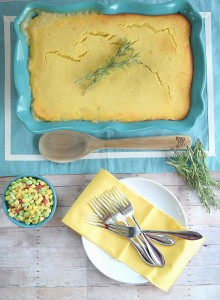Chicken Pot Pie with Cornbread Top