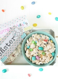 Easter Muddy Buddy Recipe & Printable Bag Topper