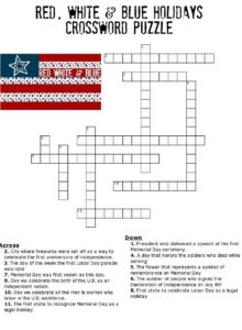 Red, White & Blue Crossword Puzzle