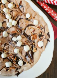 No Churn Rocky Road Ice Cream