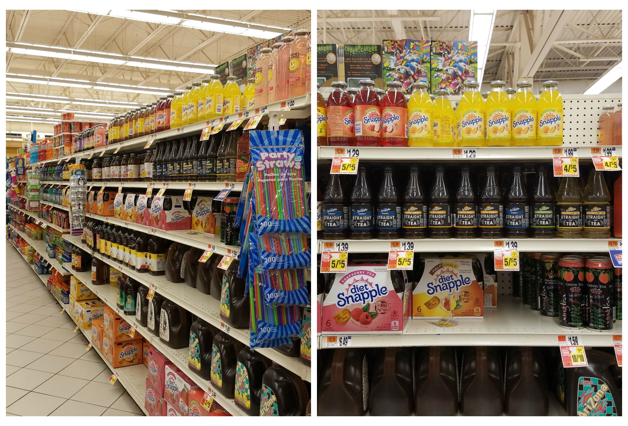 Stop and Shop drink aisle