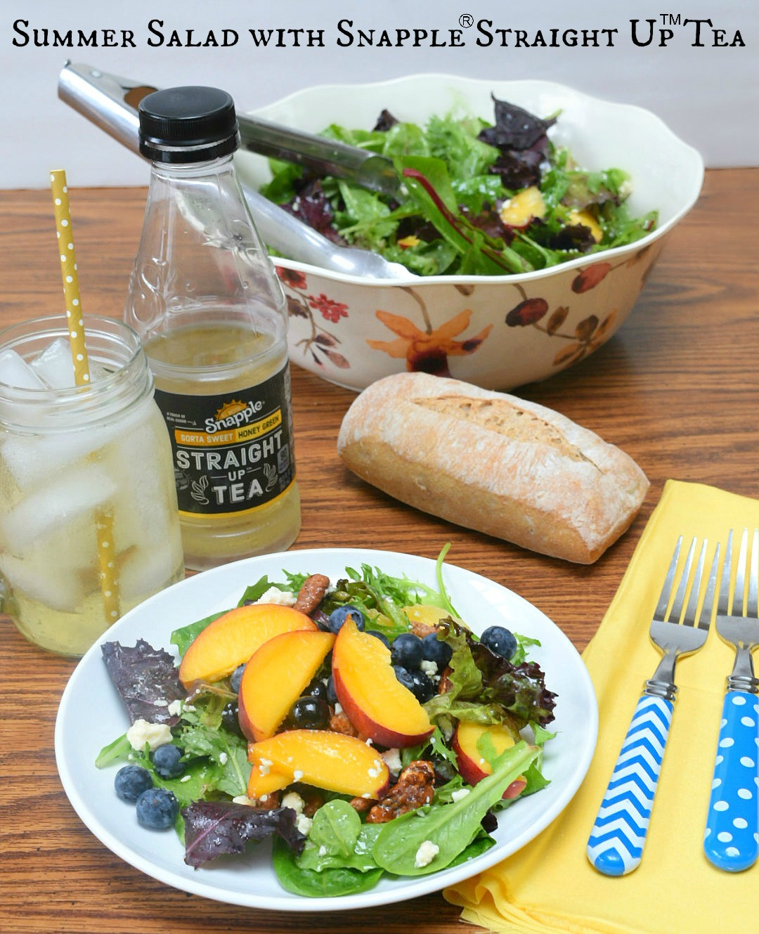 Summer Salad with Straight Up Tea