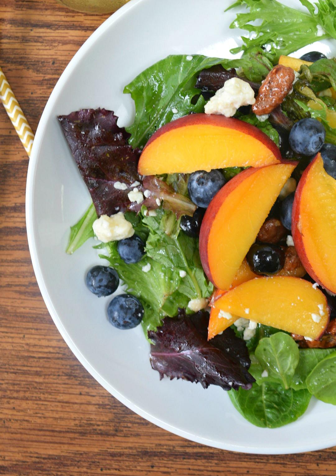 close up summer salad