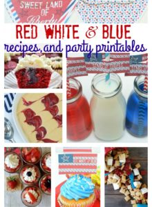 Red, White & Blue Recipes and Party Printables