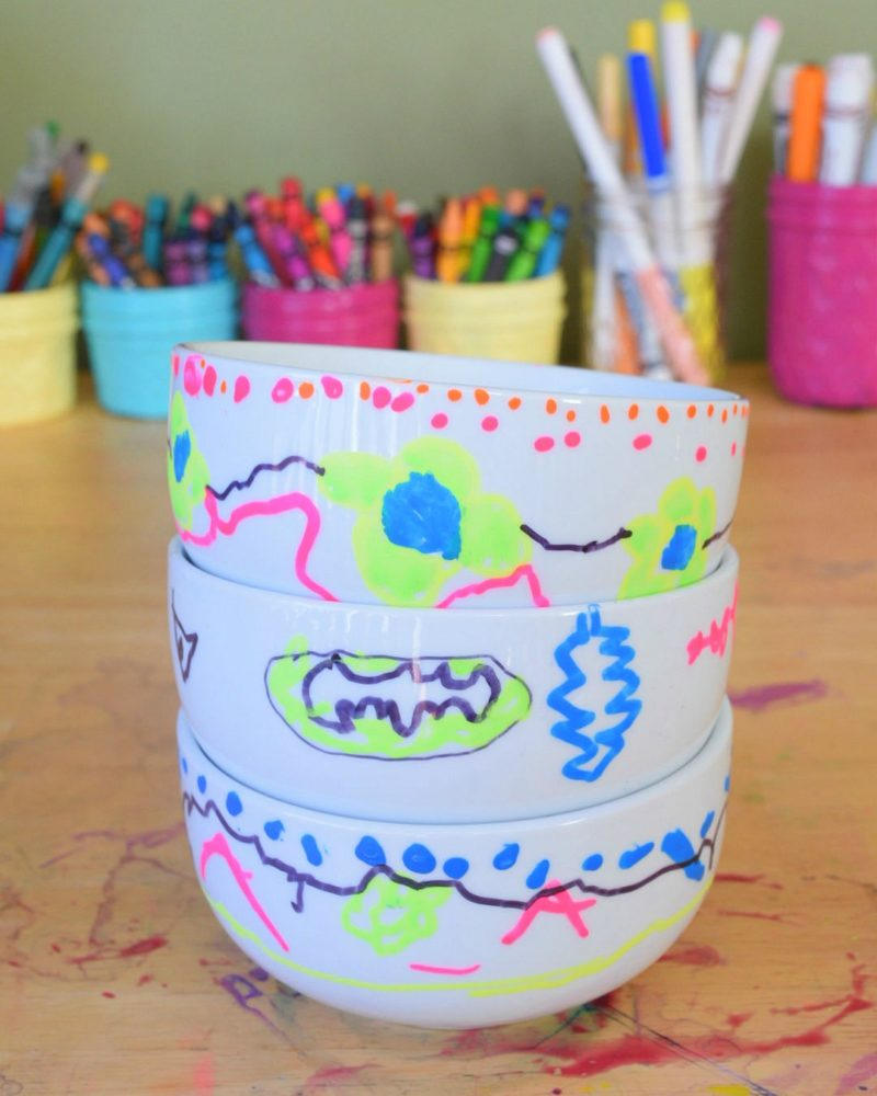 DIY Painted Bowls Set Of 3