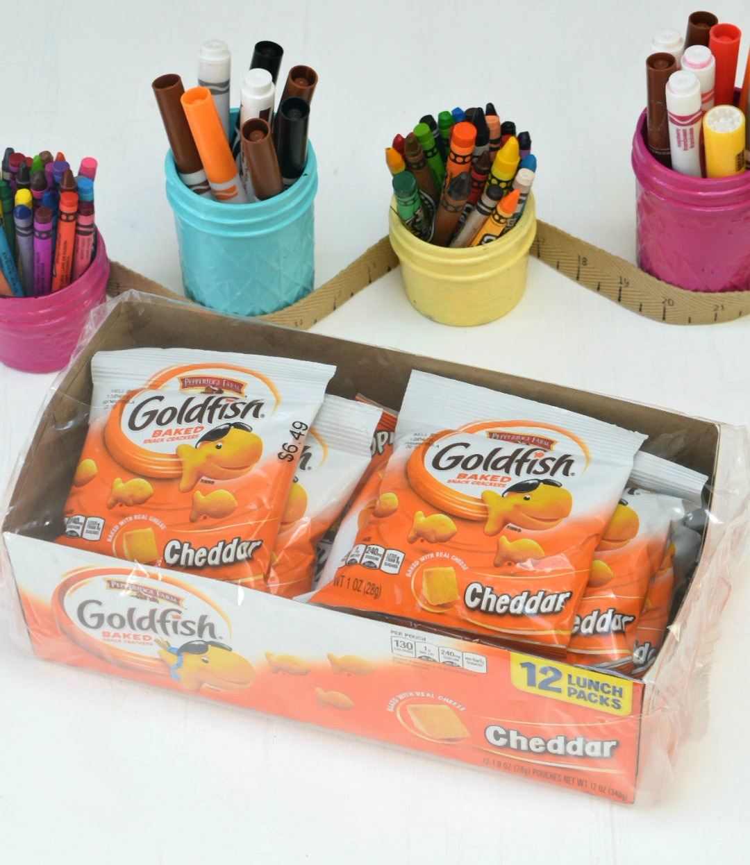 Goldfish in package back to school