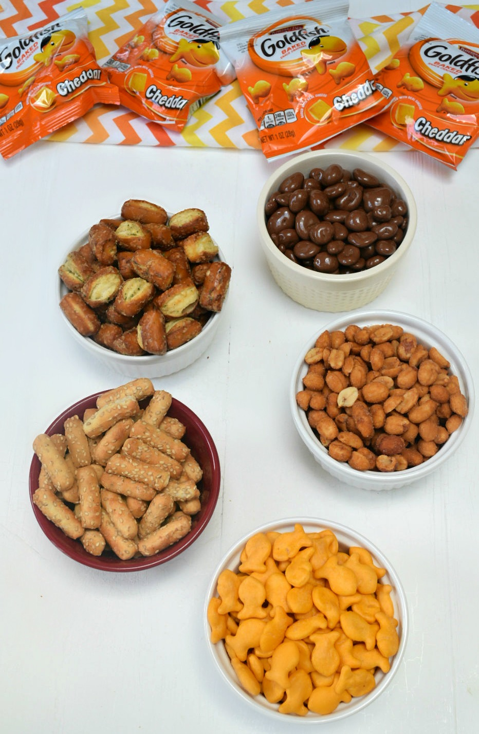 ingredients for sweet and salty snack mix