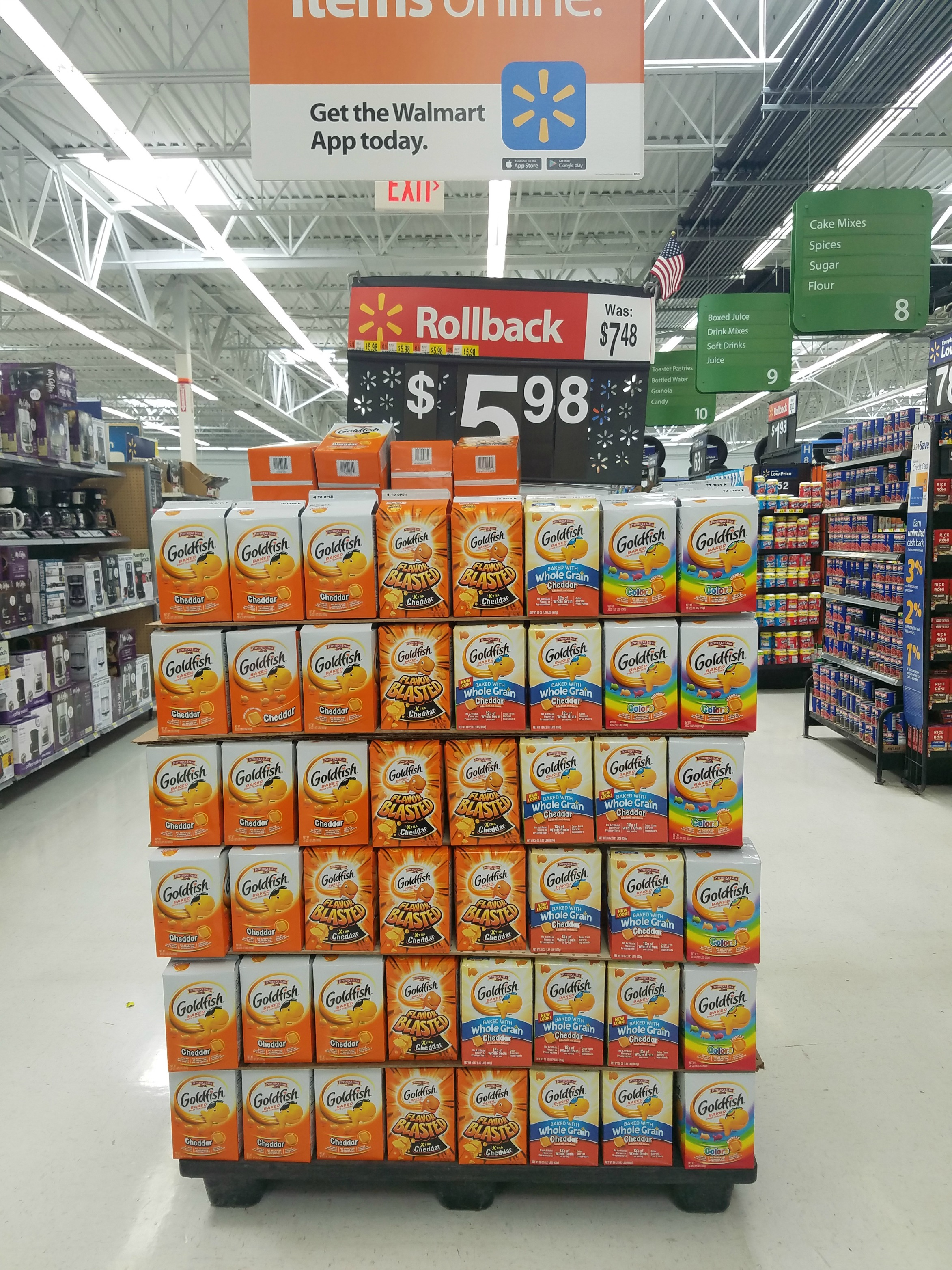 goldfish cracker rollback at Walmart