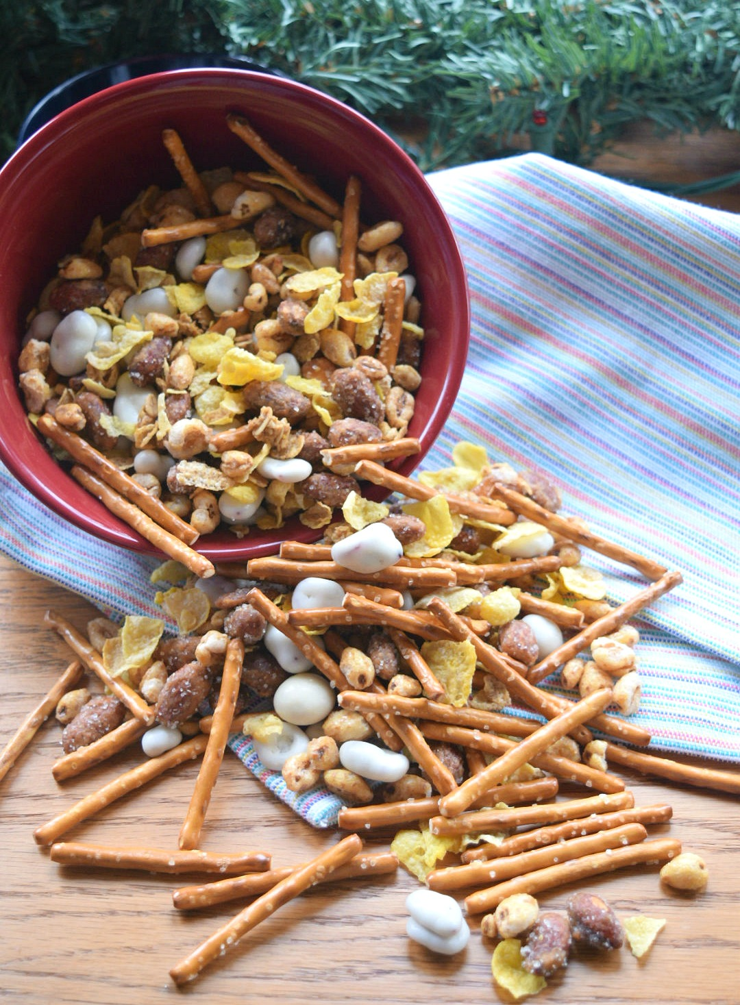 a bowlful of crunchy cereal mix
